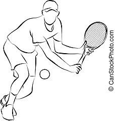Tennis - playing tennis