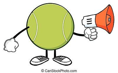 tennis, porte voix, balle