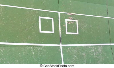 Tennis practice wall - Old tennis practice wall