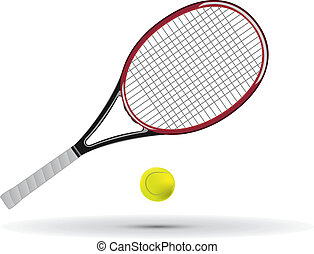 Tennis racket and ball vector illustration