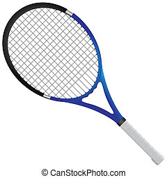 Tennis racket - tennis gear for the game. Vector...