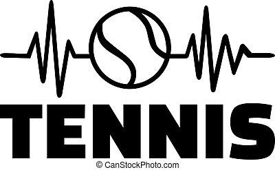 Tennis racket heartbeat line
