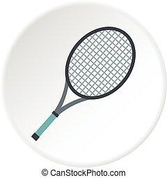 Tennis racket icon circle