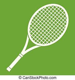Tennis racket icon green