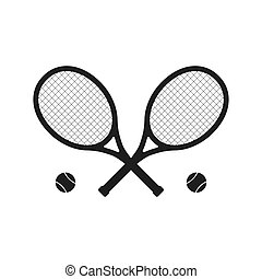 Tennis racket icon isolated on white background