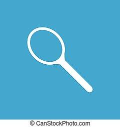 Tennis racket icon, simple