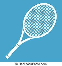 Tennis racket icon white