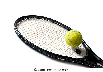 Tennis racket isolated on a white background