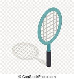 Tennis racket isometric icon