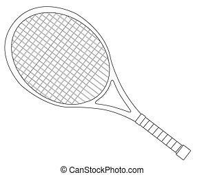 Tennis Racket Outline