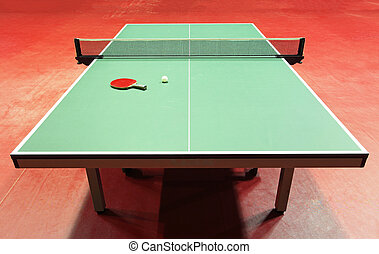 tennis, -, racket, quipment, tafel, bal