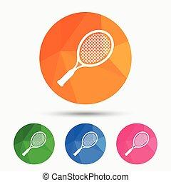 Tennis racket sign icon. Sport symbol.