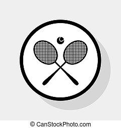 Tennis racket sign. Vector.