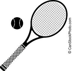 tennis racket. stencil. vector illustration