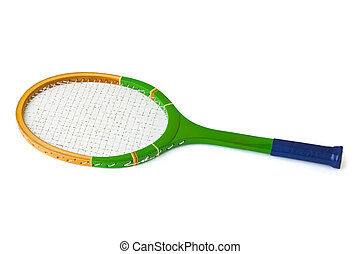 Tennis racket isolated - on white background