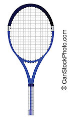 Tennis Racket - A single tennis racket isolated over a white...