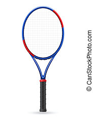 tennis racket vector illustration isolated on white...