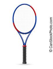 tennis racket vector illustration isolated on white...