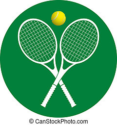 tennis rackets and ball vector illustration