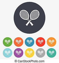 Tennis rackets sign icon. Sport symbol.