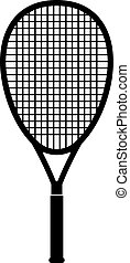 Tennis racquet, shade picture