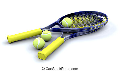 tennis, racquets, en, gelul