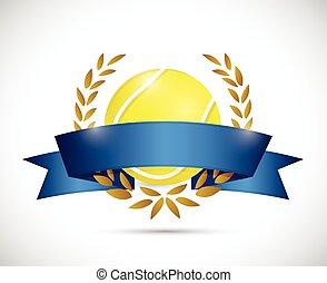 tennis ribbon banner illustration design