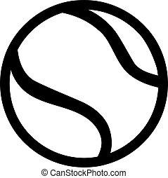 tennis, schets, bal