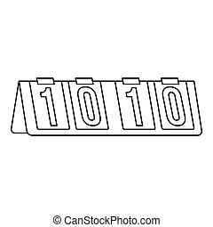 Tennis scoreboard icon, outline style