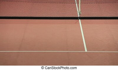Tennis serve went out... Line judge shouting OUT!