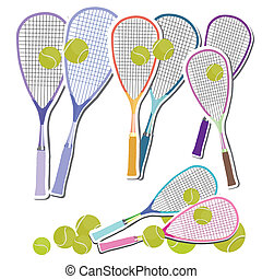 Tennis Set of rackets and balls