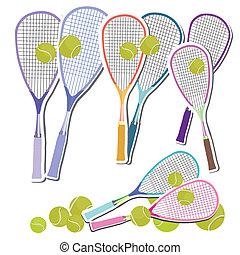 Tennis Set of rackets and balls