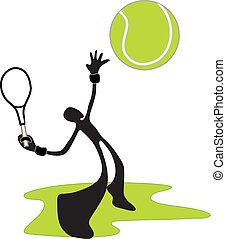 tennis shadow man