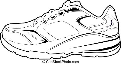 tennis shoes illustrations and clip art 3 073 tennis shoes royalty rh canstockphoto com tennis shoe clip art black and white cartoon tennis shoes clip art