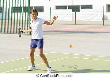 tennis, spielende