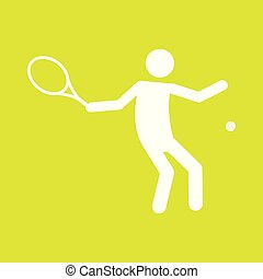 Tennis Sport Figure Symbol Vector Illustration Graphic