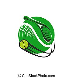 Tennis sport game green icon