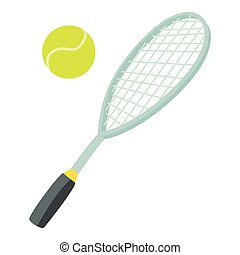 Tennis sport icon, cartoon style