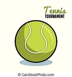 tennis, sport, isolato, palla, icona