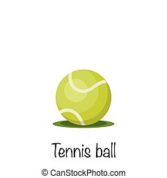 Tennis sports game ball, vector illustration