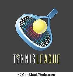 Tennis sports vector logo