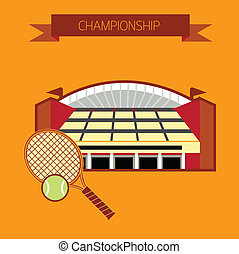 tennis, stadion, mästerskap