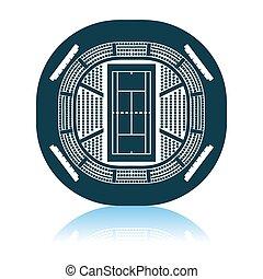 Tennis Stadium Aerial View Icon