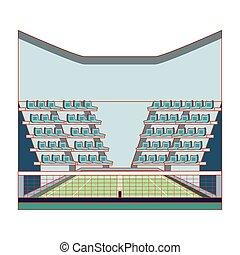 tennis stadium sport isolated icon