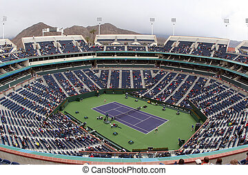 Tennis stadium - Tennis court at Pacific Life Open