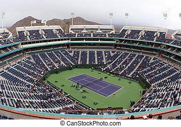 Tennis stadium - Tennis court at Pacific Life Open