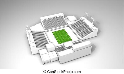 Tennis stadium - Tennis sport stadium, 360 animation.