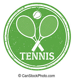 Tennis stamp