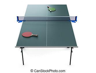 Tennis table racket and tennis ball