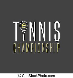 Tennis template vector logo